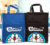 Waterproof canvas A4 file bag men and women children's portable 拎 课 homework bag primary and secondary school students tutor bag art bag