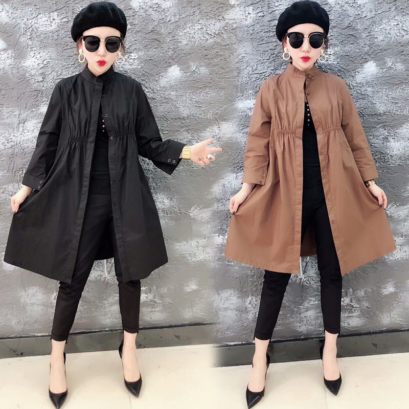 [Ling] loss processing break code women's special brand hit color coat March 30