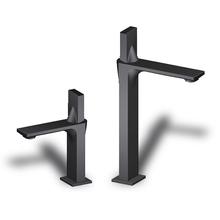 ICI黑色全銅冷熱面盆水龍頭洗手洗臉盆臺上盆加高單孔家用衛生間