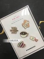 Taiwan Starbucks Sweetheart Badge Set Valentine's Day PIN Sweetheart PIN Taiwan Exclusive