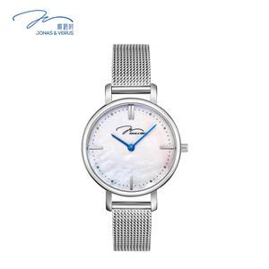 飞亚达手表女唯路时石英表防水女表玫瑰金时尚潮流钢带女士腕表