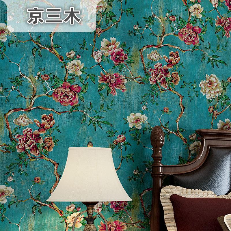 墙纸孔雀蓝