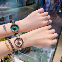韩版学生女表日韩腕表圆形手表女石英机芯防水时尚指针式时尚潮流
