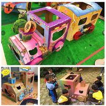 儿童纸箱玩具屋火车坦克模型纸板房子玩具车手工制作diy游戏小屋