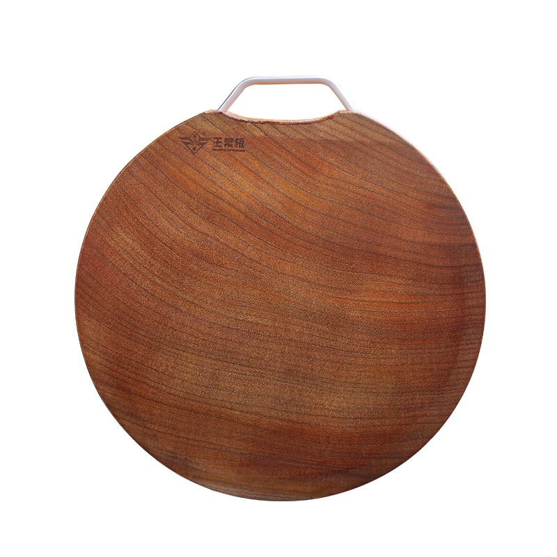 案板切菜板抗菌防霉菜板实木家用圆形铁木砧板正宗整木厨房加厚
