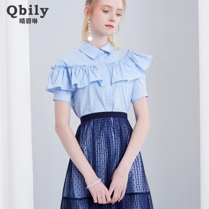 短袖高腰连身裙