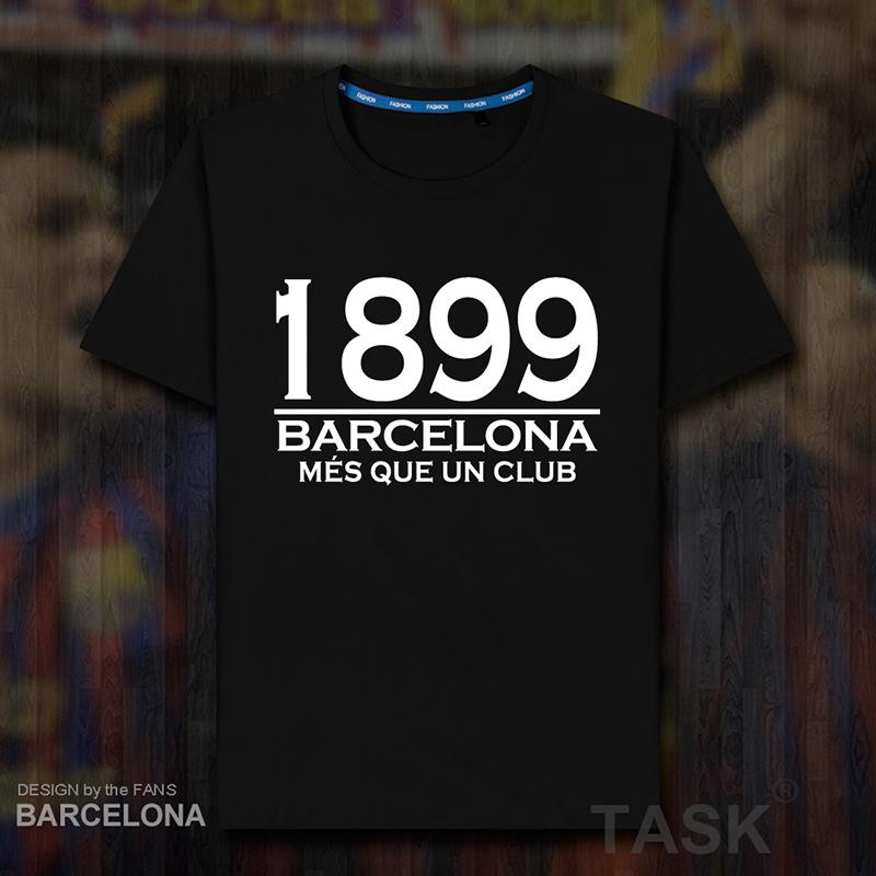 巴萨纯棉短袖T恤男女巴塞罗那1899年成立纪念球迷周边足球衣夏08