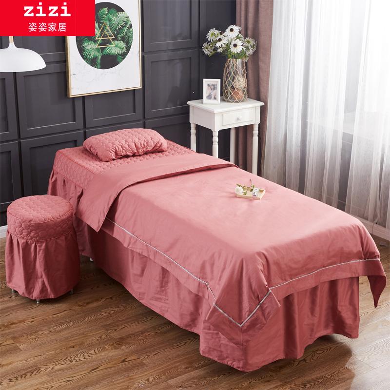 纯棉美容院床罩