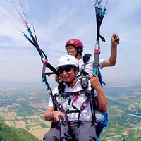 Xi'an Chang'an District Tianziyu Paragliding Base Touring Horses and Horses Reserve Double Flight Experience to send camera video