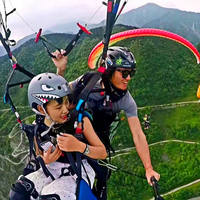 Chengdu, Chengdu, Dujiangyan, Zipingpu speed panda paragliding flight camp Qingcheng Mountain double flight reservation
