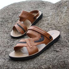 Summer Korean version of the new style men's slippers, personality fashion, one-word shoes, casual sandals, beach sandals and sandals for outwear