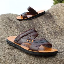 Summer 2018 new Korean version of the trend of men's shoes beach shoes men's slippers non-slip casual sandals men's breathable students