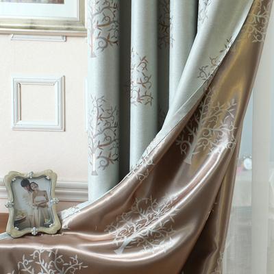 欧式风格提花窗帘布艺全遮光客厅卧室书房飘窗加厚定制成品窗帘布