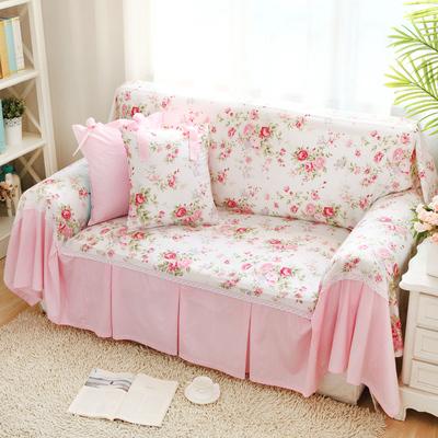 沙发巾全盖沙发套罩布艺美式欧式田园简约现代床品面料棉斜纹