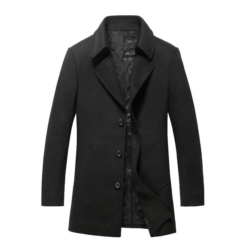 商务男士呢大衣