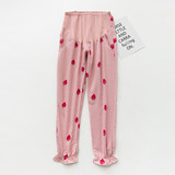 2019 summer thin pregnant women pajamas large size double-layer eduto belly pants out casual home pants adjust pants