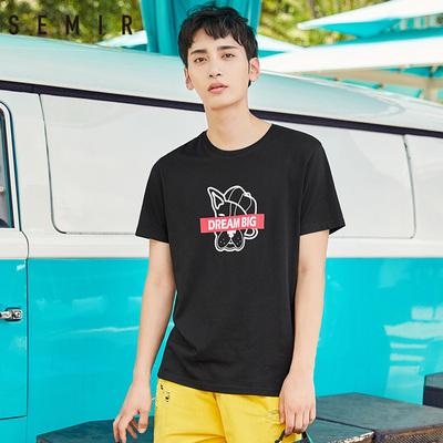 森马2018夏季新款短袖T恤男官方旗舰店男士纯棉情侣体恤潮流衣服