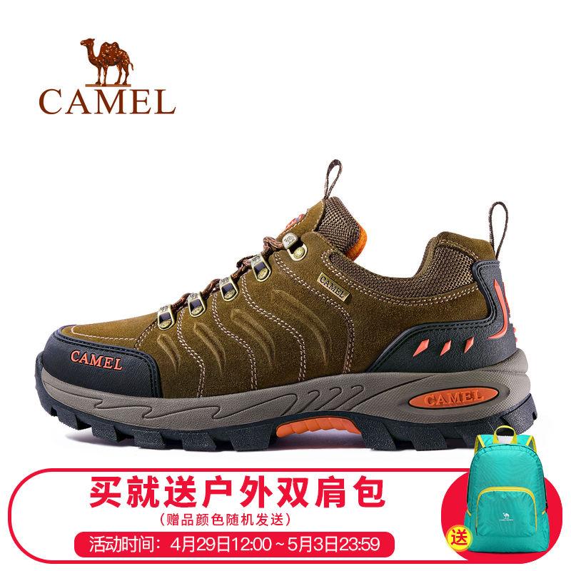 骆驼户外登山鞋男女冬季保暖防滑减震鞋耐磨低帮运动徒步鞋户外鞋