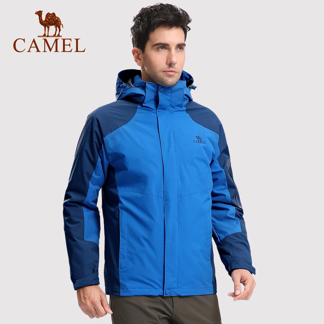 【热销2万】骆驼户外冲锋衣男女 三合一两件套可拆卸抓绒保暖外套