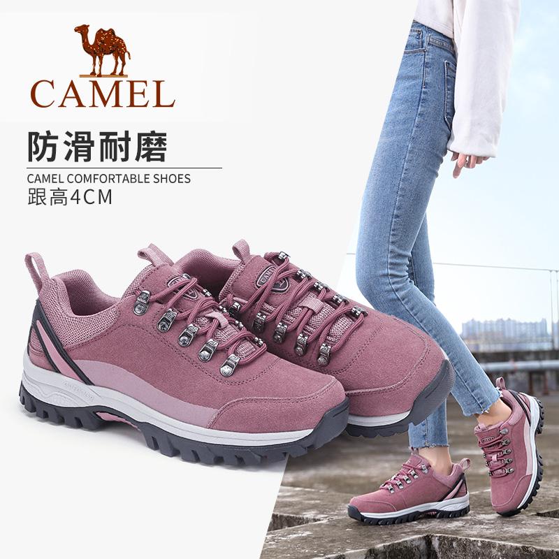 骆驼户外登山鞋秋冬防滑减震耐磨旅游越野低帮旅行男女运动徒步鞋