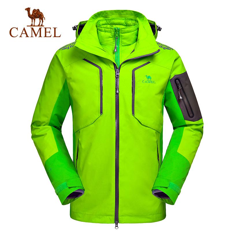 【清仓特卖】骆驼户外羽绒冲锋衣 男防风保暖三合一两件套滑雪服