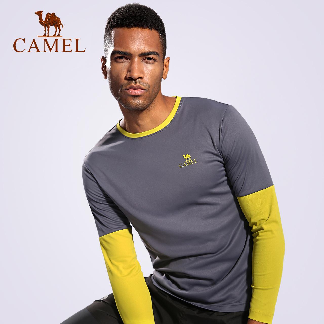 camel/骆驼运动卫衣男款 运动弹力长袖跑步上衣 休闲服运动健身衣