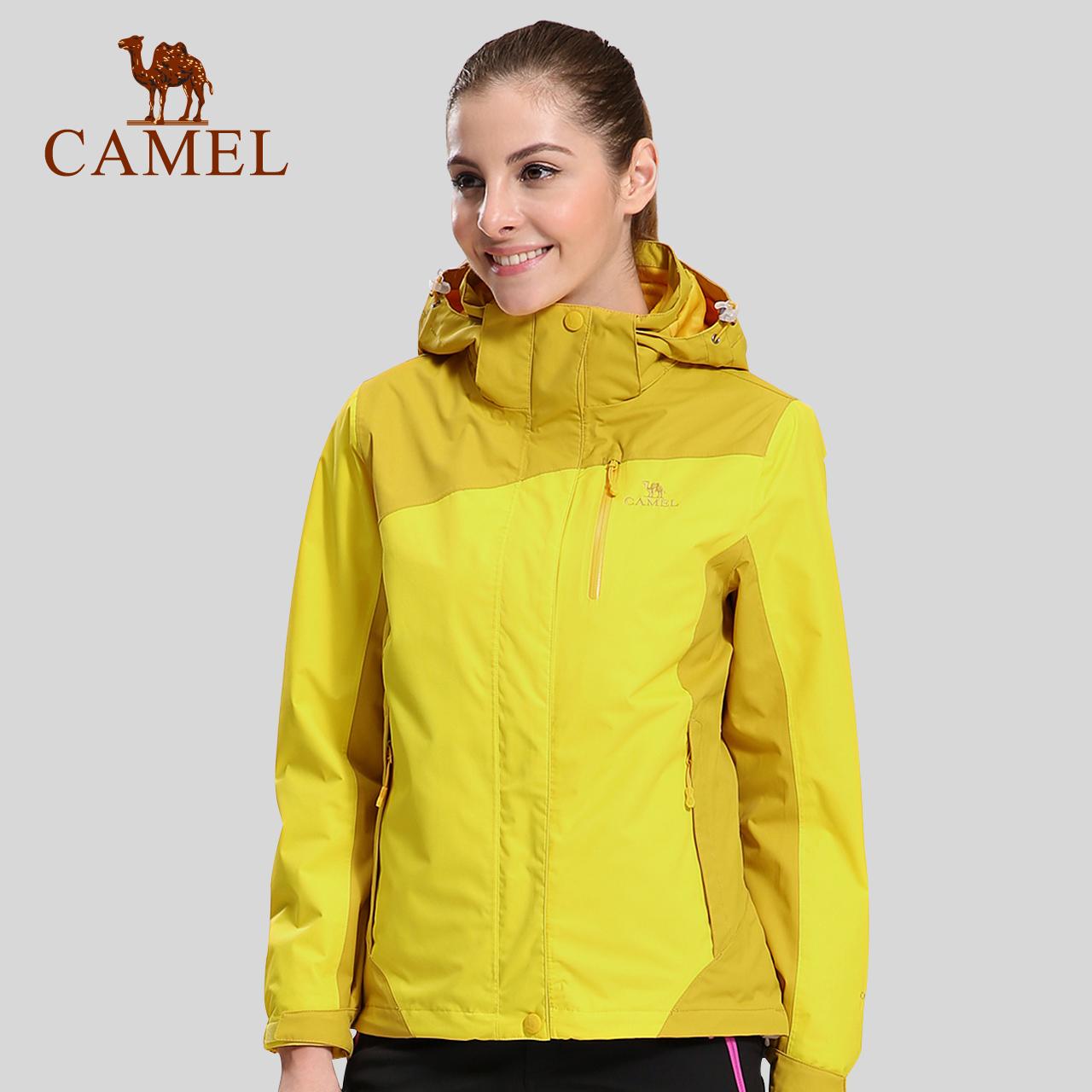 骆驼户外冲锋衣女 秋冬摇粒绒抓绒保暖防风三合一两件套登山服装