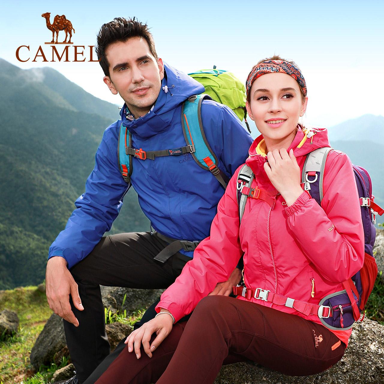 CAMEL/骆驼抗静电透气内胆冲锋衣 男女防风保暖冲锋衣透气登山服