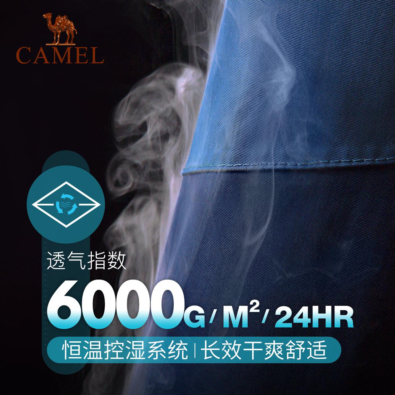 骆驼8848系列冲锋衣男士潮牌加绒加厚可拆卸三合一两件套登山服女