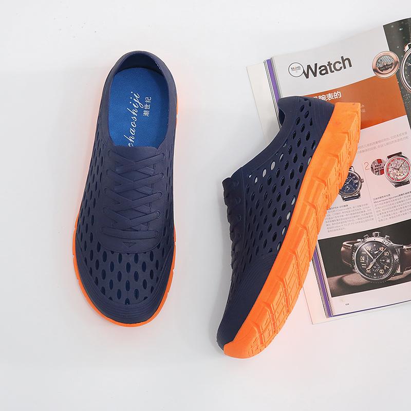夏季镂空鸟巢洞洞鞋雨天防水鞋子男女软底轻旅游沙滩速干塑料凉鞋
