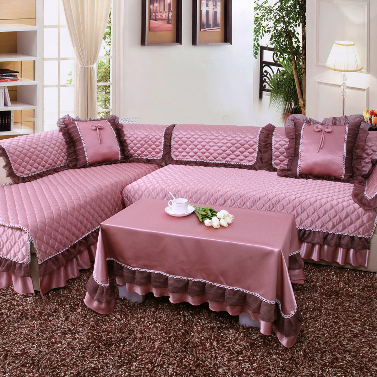 一朵布艺沙发垫