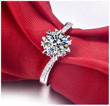 正品钻戒PT950铂金1克拉钻石戒指女白金结婚八心八箭莫桑石指环