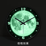 Wall clock mute strong night light Big clock table living room creative Bedroom night light wall clock Digital personality modern clock