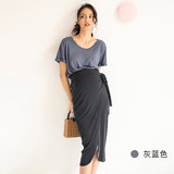 BELLYWEAR2019 summer new pregnant women T-shirt short fashion loose round neck short-sleeved tide mother shirt