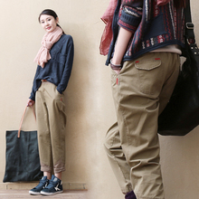 Spring 2019 new boots, pants, nine-minute pants, cotton casual pants, loose-legged women's trousers and Hallen trousers are thin
