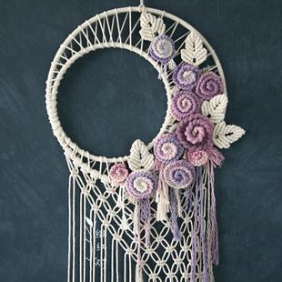 月华 波希米亚背景 材料包 婚礼 DIY 成品 绯红树手工编织挂毯