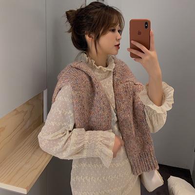 2018冬季新款韩版蕾丝衫女雪纺衫宽松学生荷叶边打底衫长袖上衣