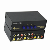 SZHY-LINK AV switcher 2 4 in 1 out AV switcher 4 in 1 out AV distributor