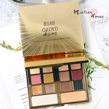 Spot Milani gilded desires14 color Limited eye shadow disc Mermaid sunset high gloss metal makeup