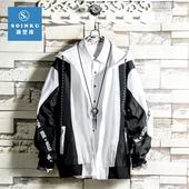 韩版 潮流先生2019新款 ins潮牌年龄装 外套男士 宽松休闲茄克外衣服