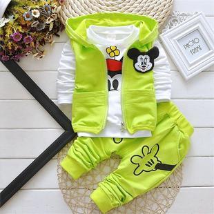 儿童套装男童春秋夏季韩版童装1-3岁女童运动装宝宝长袖三件套潮