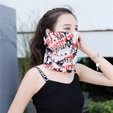 Summer female bib outdoor running scarf hat bib multi-use cool neck pillow cold scarf scarf collar
