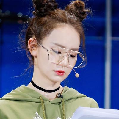 大框多边切边眼镜框女 韩版网红潮明星透明眼镜可配近视装饰素颜