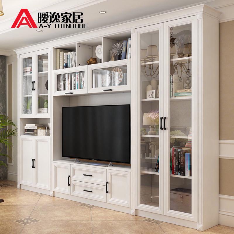 北欧客厅电视柜现代简约组合墙背景墙多功能储物欧式电视机柜茶几