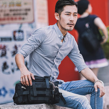 JR Men's Multifunctional Tactical Lumbar Breastbag Large Capacity Single Shoulder Bag Oblique Bag Handbag Waterproof and Wear-resistant Leisure