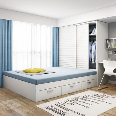 高箱储物床抽屉单人床成人小户型现代简约板式踏踏榻榻米衣柜床网店网址