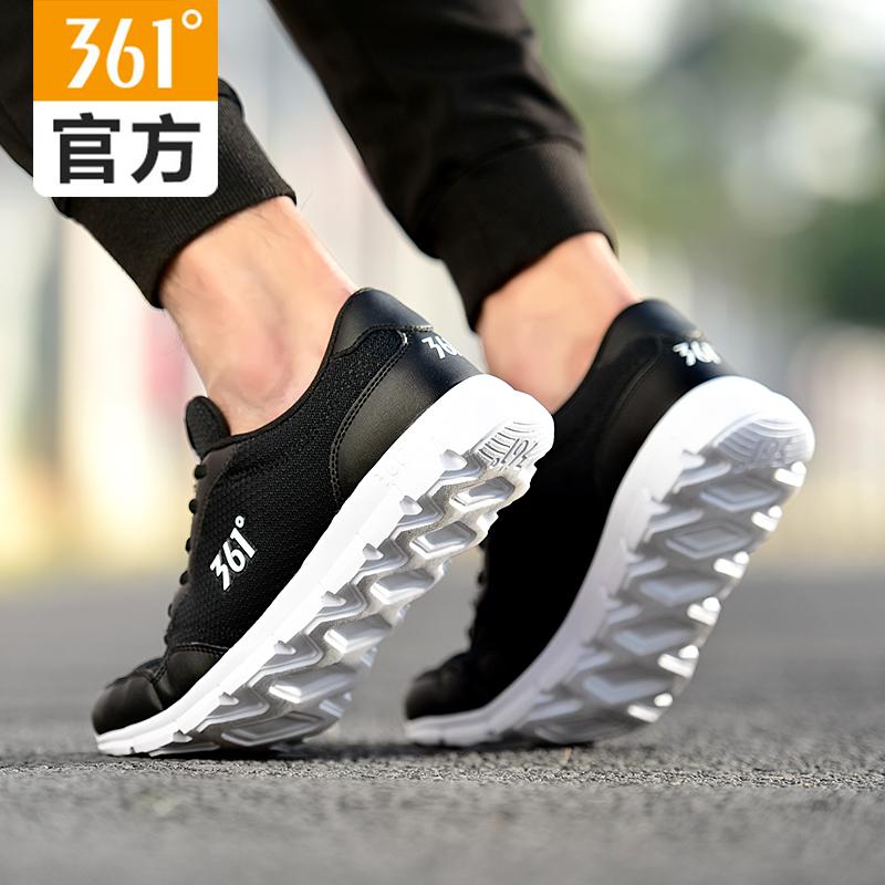 361男鞋运动鞋2018夏季新款361度复古跑鞋男休闲鞋网面透气跑步鞋