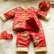 Baby age dress, baby girl, child, autumn and winter, catching the week, serving the Chinese style, the hundred days, the full moon, the festive, the new year, the Tang suit