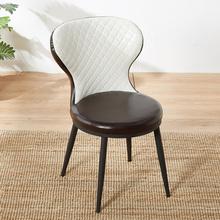北欧餐椅成人现代简约休闲靠背椅家用餐桌椅子餐厅酒店椅美甲凳子
