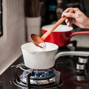 树可珐琅 日式搪瓷柄奶锅 单柄锅宝宝辅食锅汤锅燃气电磁炉通用